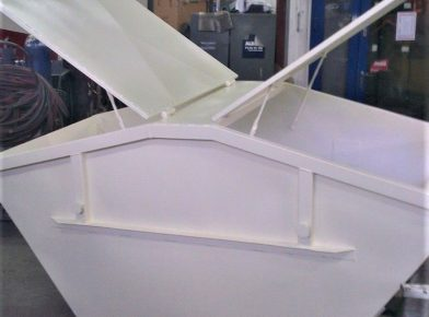 Kontener bramowy z klapami Mulda symetryczna 7m3